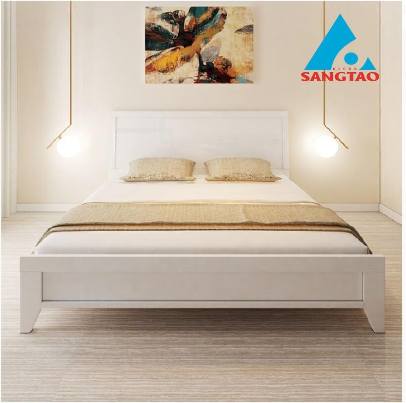 Giường màu trắng