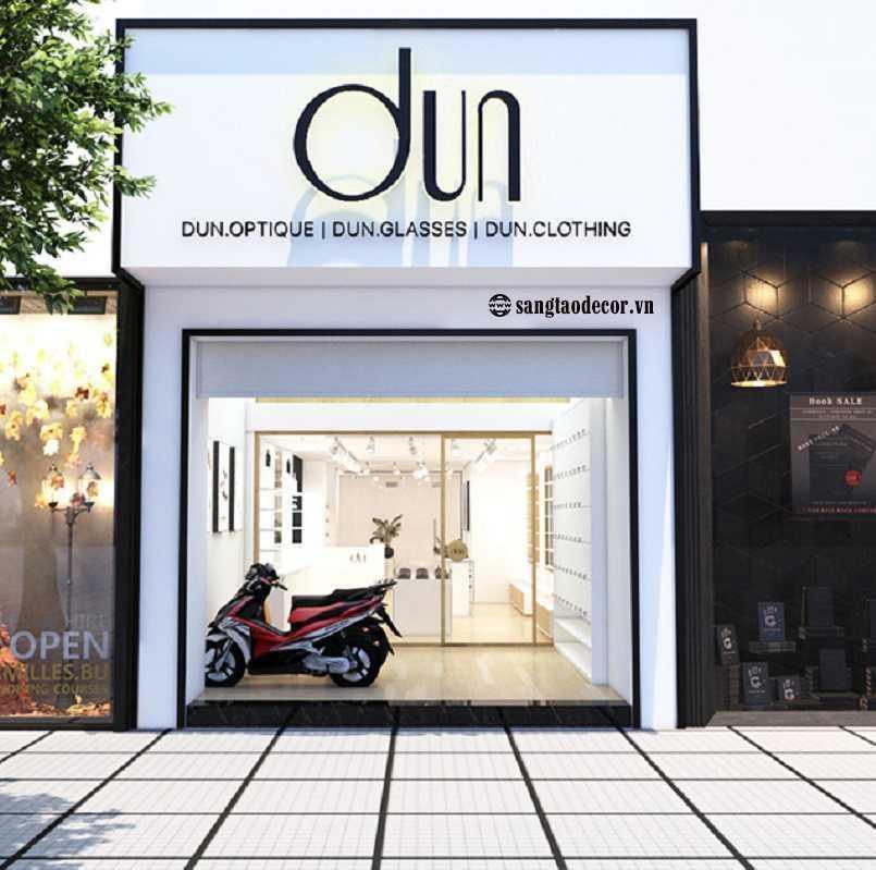Thiết kế thi công shop thời trang Dun