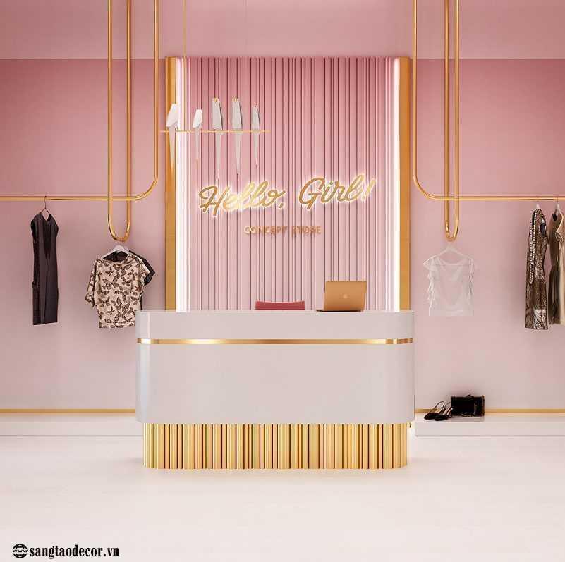Thiết kế thi công shop thời trang Hello Girl