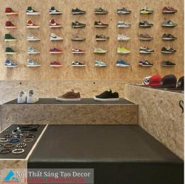 Mẫu thiết kế shop giày, phụ kiện nam