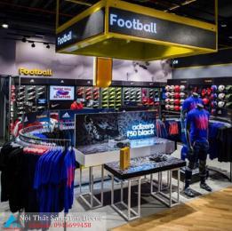 Mẫu thiết kế shop giày thể thao và quần áo nam