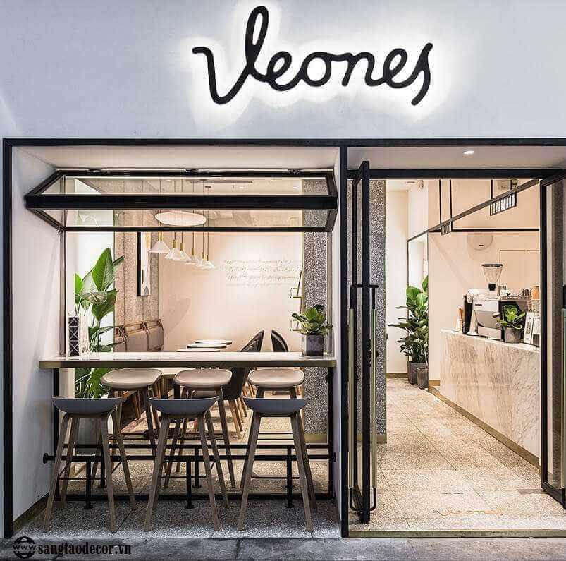 Thiết kế thi công quán cafe Veones