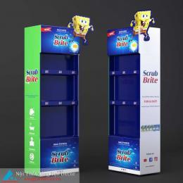 Kệ trưng bày nước uống 3 tầng