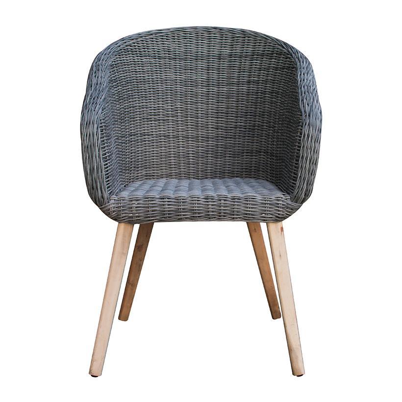 Ghế cafe mây nhựa khung gỗ ATC Furniture RADS-157 60 x 45 x 89 cm