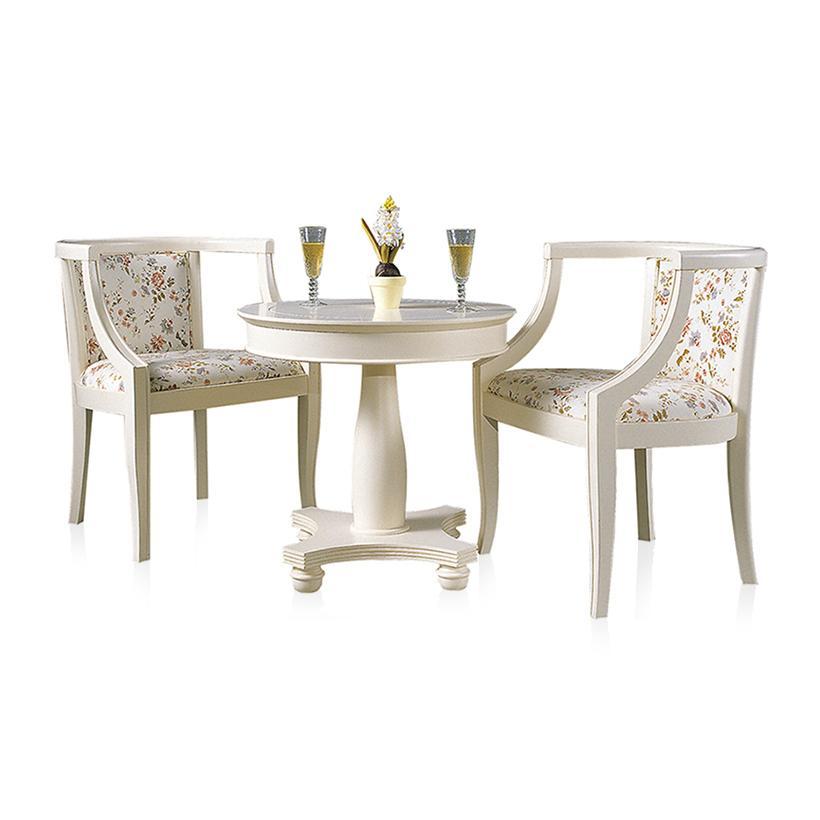Bộ bàn trà 2 ghế Jang In Juliet ILVC-0311 65 x 65 x 62 cm (Trắng)