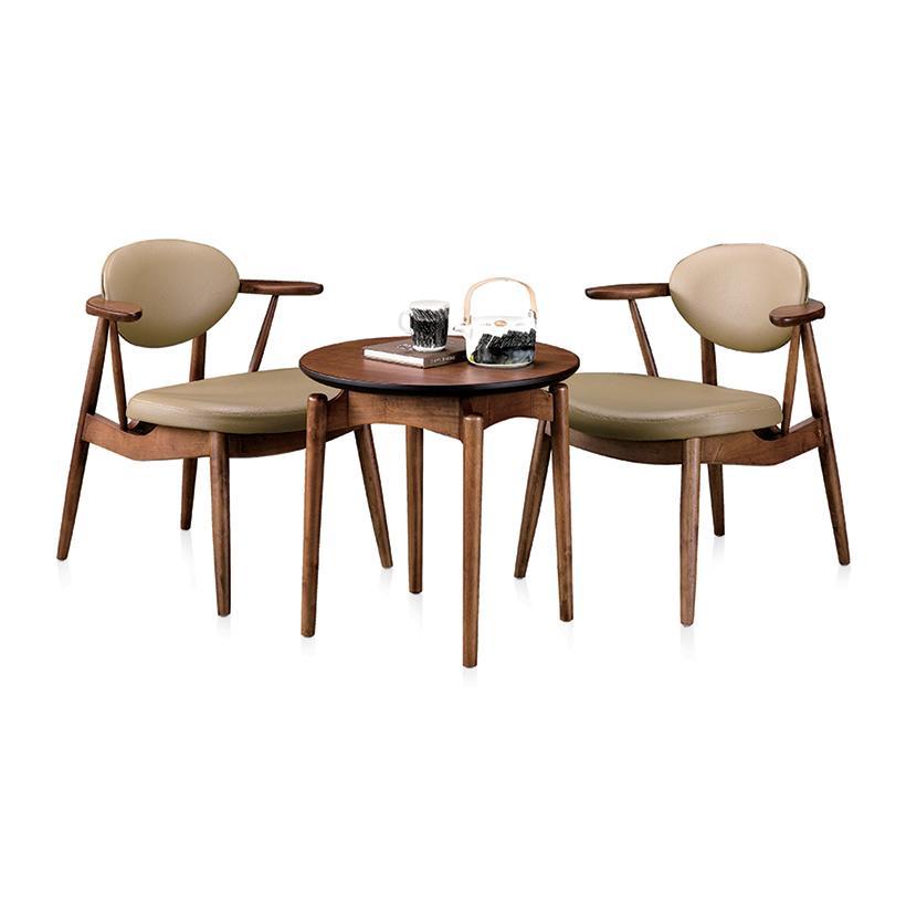 Bộ bàn trà 2 ghế Jang In Latte Moka ITTC-0465 57 x 57 x 54 cm