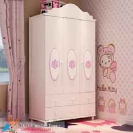 Tủ quần áo màu hồng