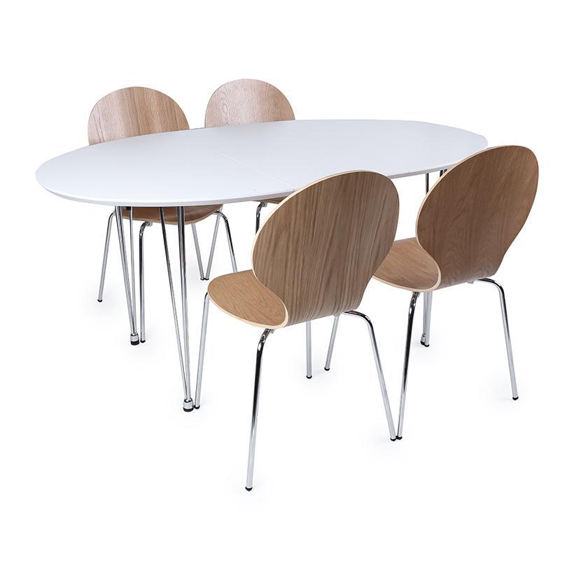 Bộ bàn ghế ăn KhangHome Smart-Shell 3