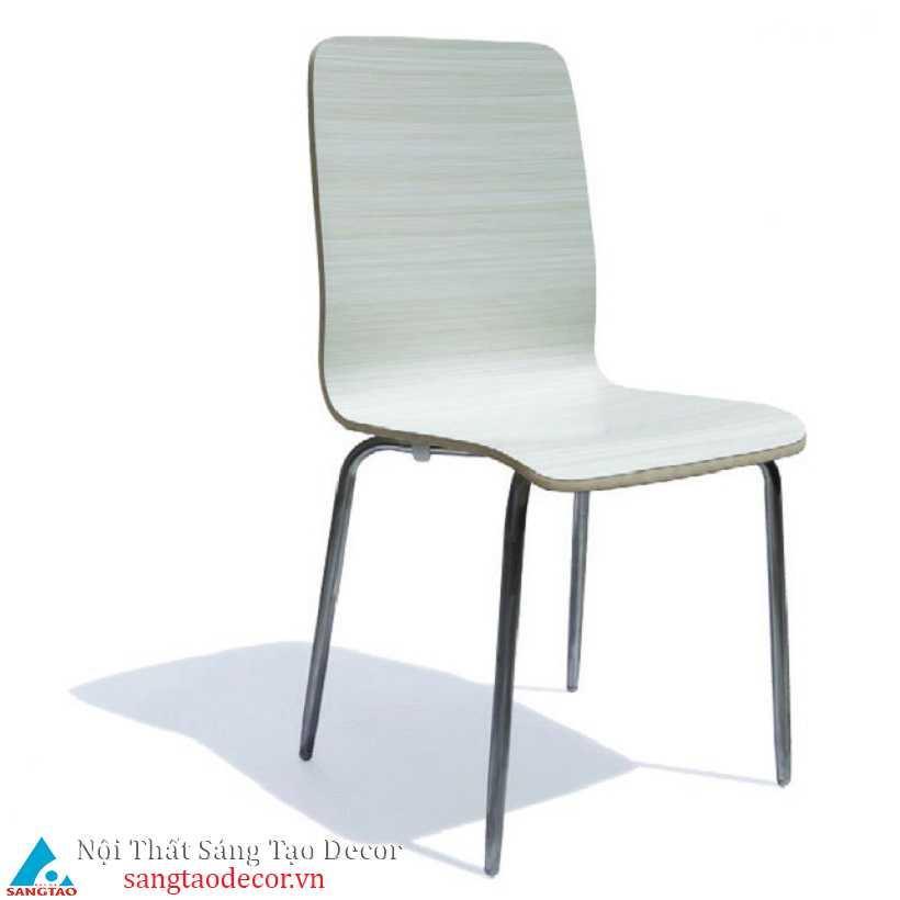 Ghế gỗ chân inox
