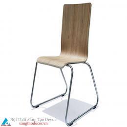 Ghế gỗ chân inox mẫu mới