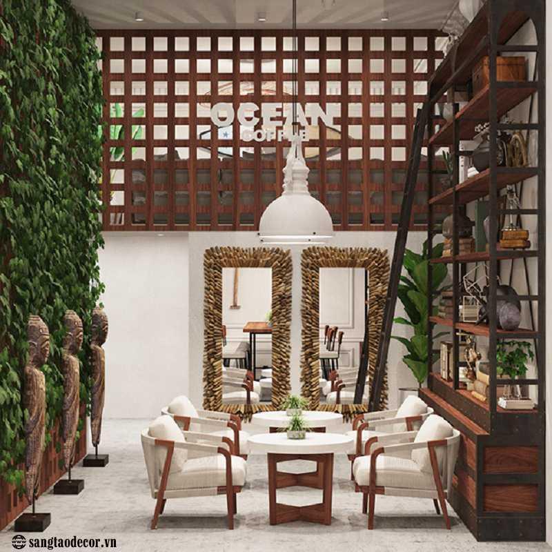Thiết kế thi công quán cafe Ocean