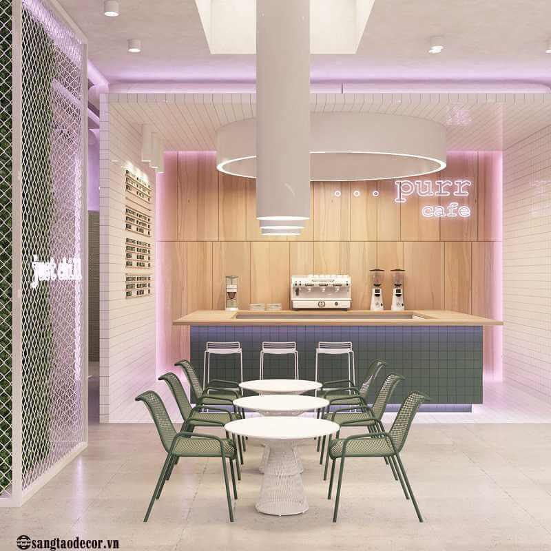 Thiết kế thi công quán cafe Purr