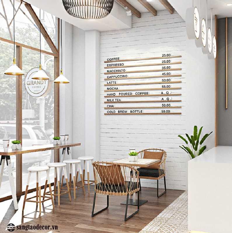 Thiết kế thi công quán cafe Grandt