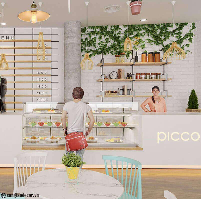 Thiết kế thi công quán cafe Piccoio