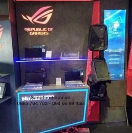 Quầy tủ kệ trưng bày sản phẩm laptop gaming ASUS
