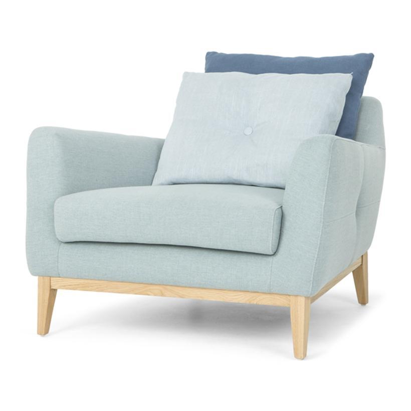 Ghế bành MD1134 98 x 99 x 79 cm (Xanh nhạt)