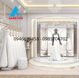 Thiết kế thi công shop thời trang váy cưới