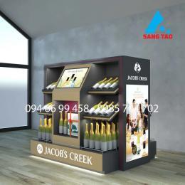 Quầy tủ kệ trưng bày rượu