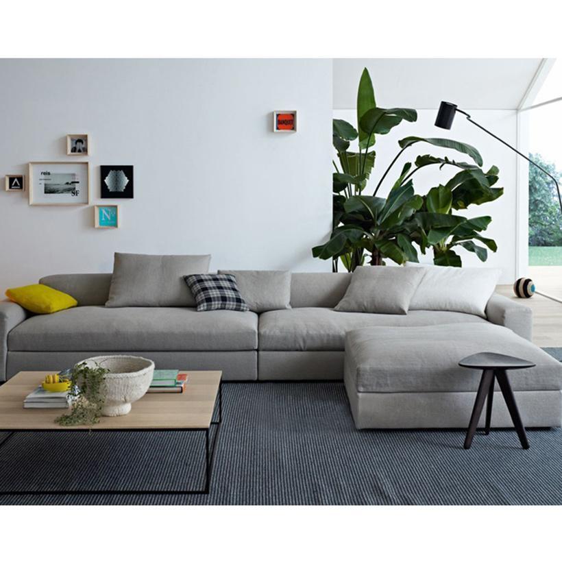 Sofa hiện đại băng 3 Home'furni 3MS-Casa Rovere-3F 280 x 85 x 60 cm (Xám)