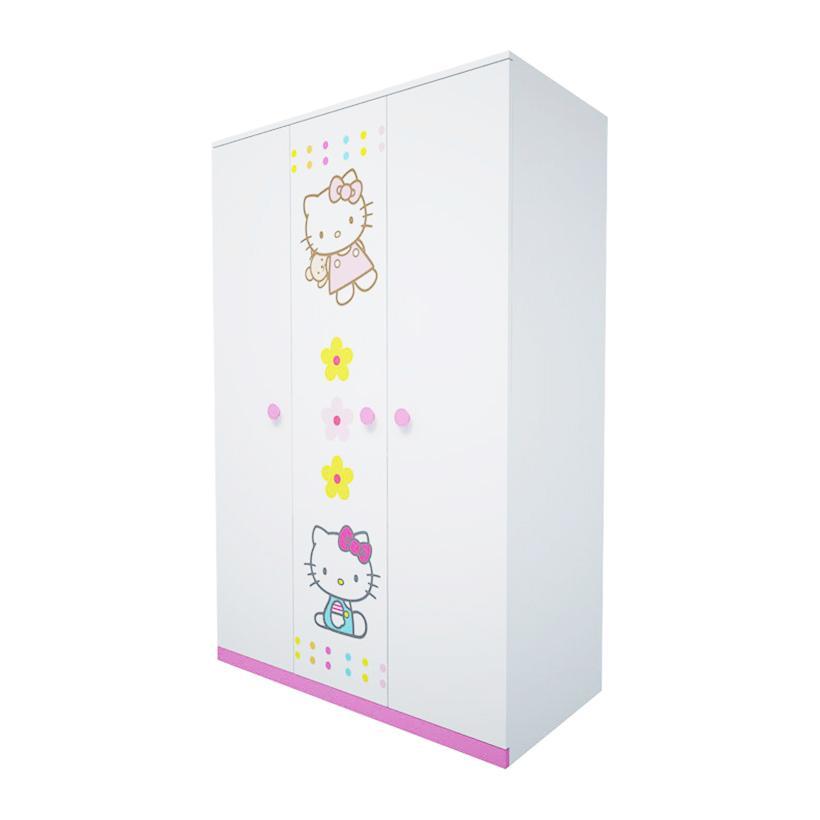 Tủ quần áo trẻ em hình Hello Kitty IBIE 1m6